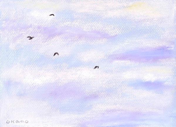 大空を進む鳥