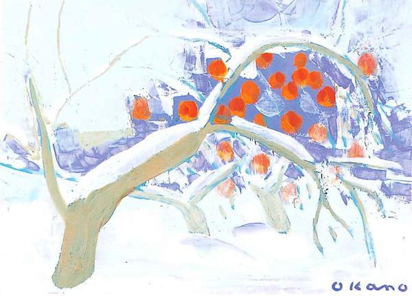雪の中のりんご