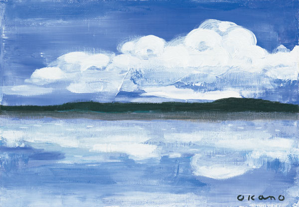 雲の映る風景