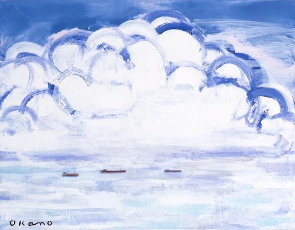 白く大きな雲