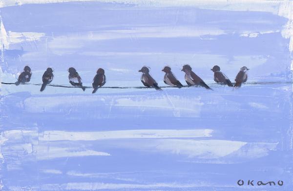 小鳥たちの休憩