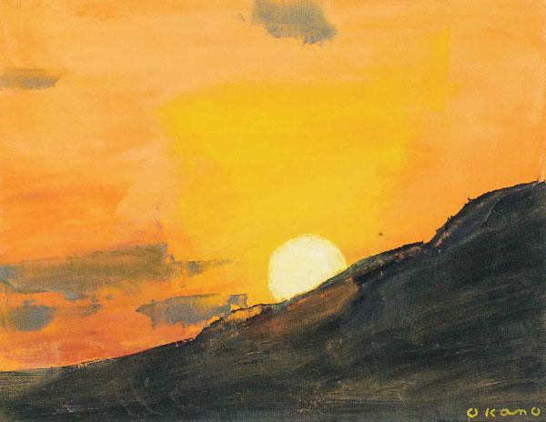 オレンジ色の風景
