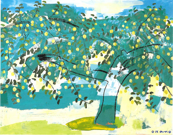 初夏のりんご園
