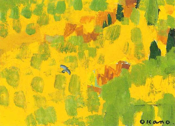 谷を渡る鳥