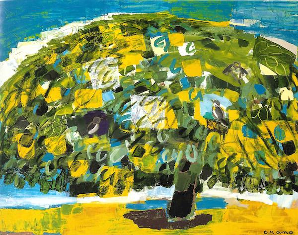 鳥の集まる木