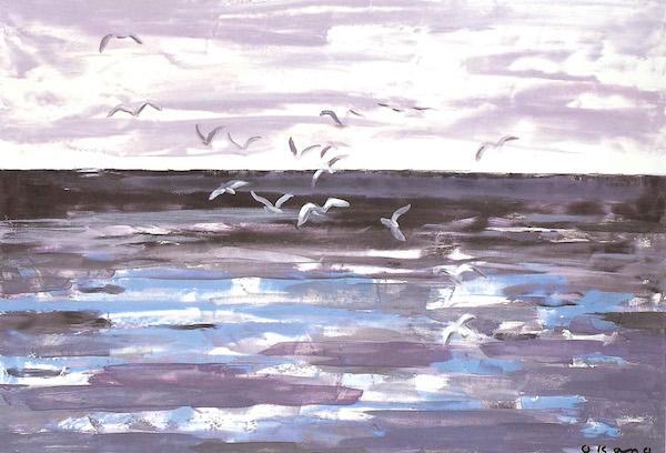 海へ向かう鳥