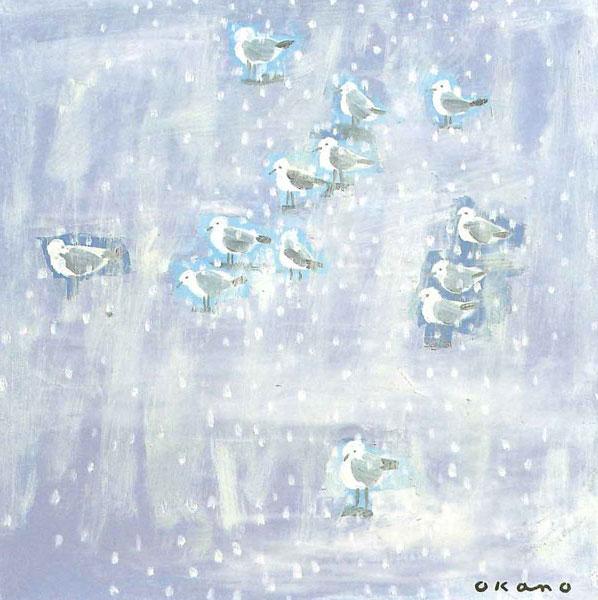 雪の中の小鳥