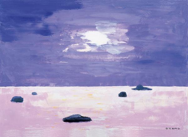 紫の中の明かり