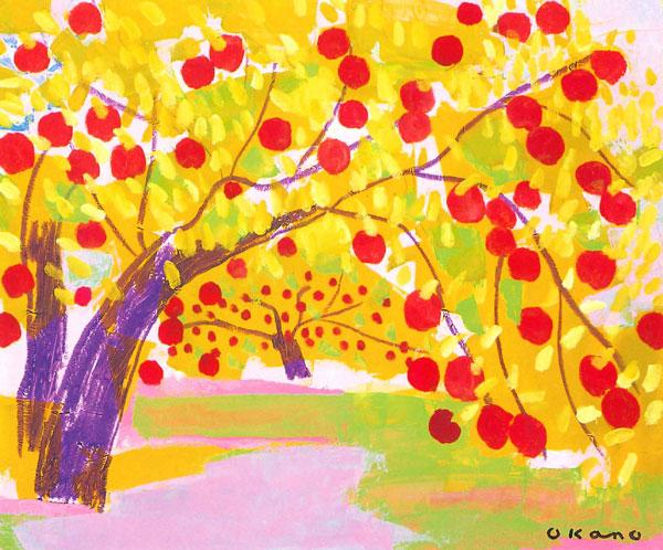 りんご園にて