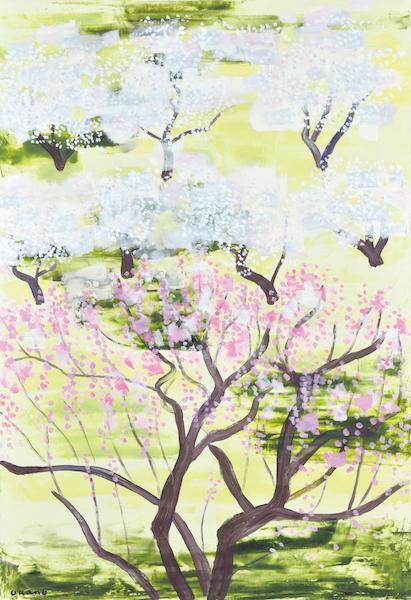 初春、梅の園