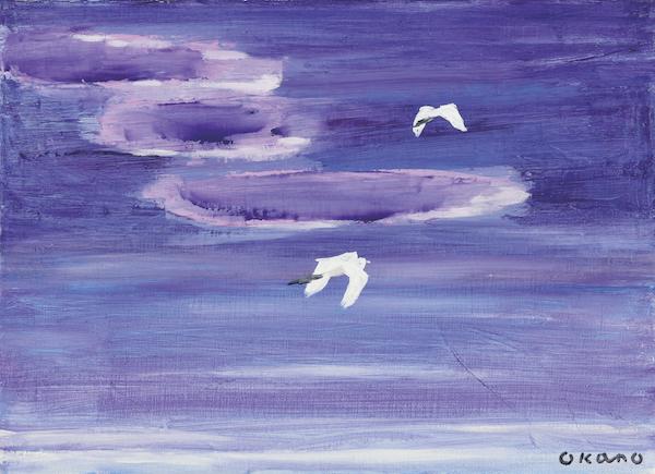 白い鳥の飛翔